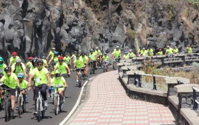 Más de 150 personas reivindican una vida más sostenible  en la Fiesta de la Bicicleta de Breña Baja