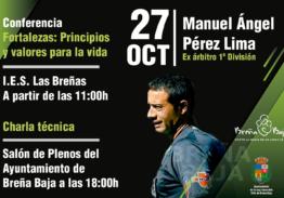 Pérez Lima (ex árbitro ) charlará con alumnos y monitores en Breña Baja